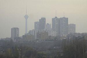 چتر آلودگی هوا بر فراز تهران