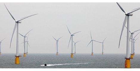 نصب بزرگترین توربینهای بادی دنیا در انگلستان