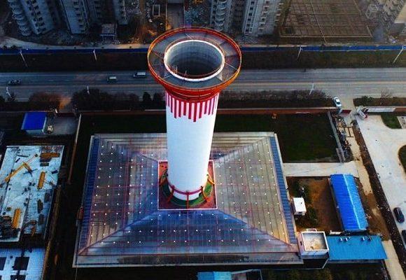 برج ۶۰ متری آلودگی را می مکد و هوای پاک تولید می کند